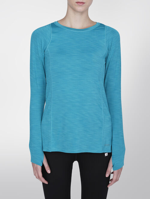 CALVIN KLEIN PLEAT BACK LONG SLEEVE TOP