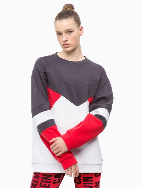 CALVIN KLEIN COLOR BLOCK 풀오버 스웨트셔츠