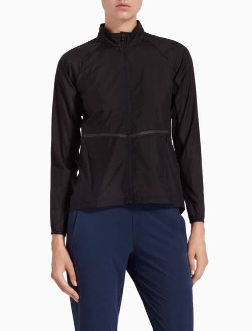 CALVIN KLEIN WIND JACKET WITH MESH PANELS AND REFLECTIVE TAPES