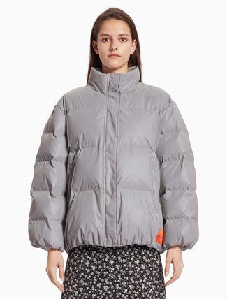 CALVIN KLEIN REFLECTIVE 다운 재킷