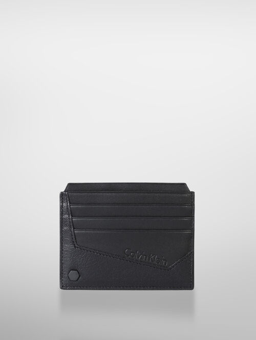 CALVIN KLEIN TWO TONED TEXTURE DOUBLE SIDE CARD HOLDER
