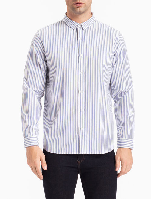 CALVIN KLEIN OXFORD STRIPED SHIRT IN REGULAR FIT