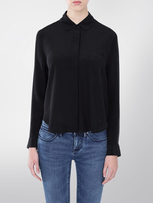 CALVIN KLEIN EBE WASHED SILK SHIRT