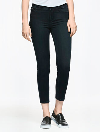 CALVIN KLEIN PEACHED SATEEN WASH BODY FIT HIGH RISE SKINNY JEANS