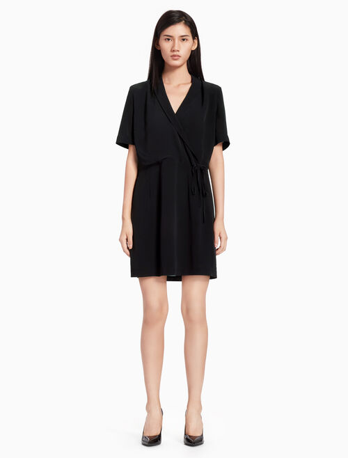 CALVIN KLEIN WRAP DRESS