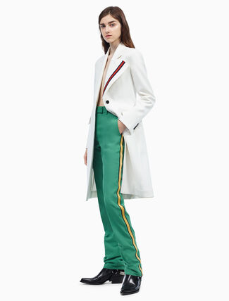 CALVIN KLEIN uniform stripe tailored coat