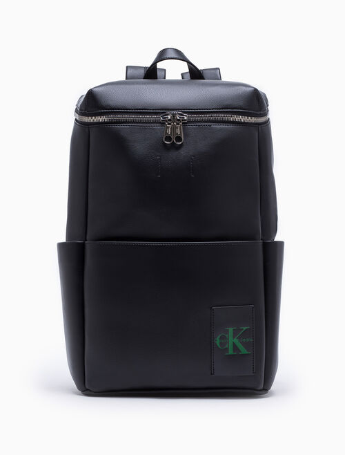 CALVIN KLEIN COATED CANVAS ZIP-AROUND BACKPACK