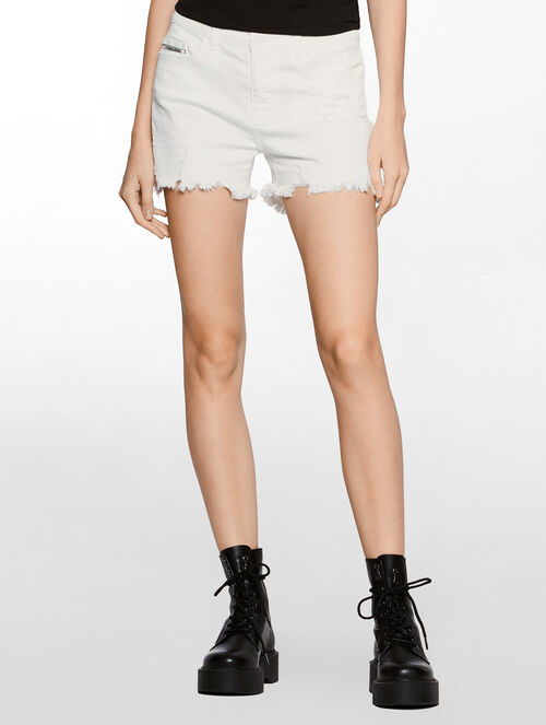 CALVIN KLEIN INFINITE WHITE CUT OFF SHORTS