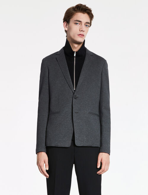 CALVIN KLEIN DOUBLE FACE JERSEY DECONSTRUCTED JACKET