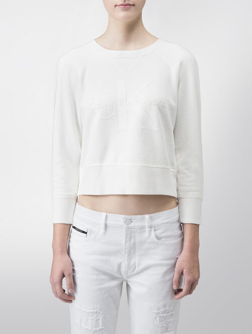 CALVIN KLEIN COTTON PULLOVER SWEATSHIRT - LIMITED EDITION CAPSULE