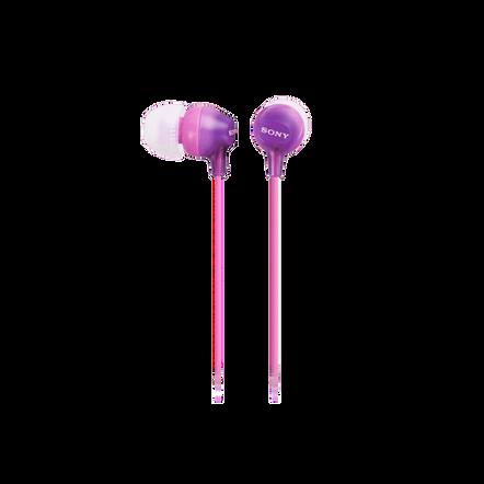 In-Ear Lightweight Headphones with Smartphone Control (Violet)