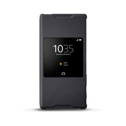Style Cover Stand SCR46 for Xperia Z5 Premium (Graphite Black)