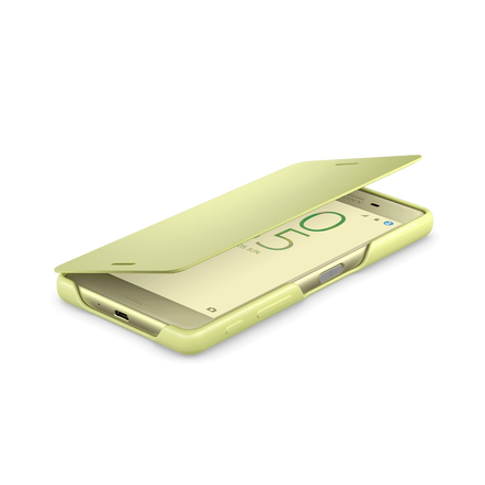Style Cover Flip SCR52 for Xperia X (Lime Gold)