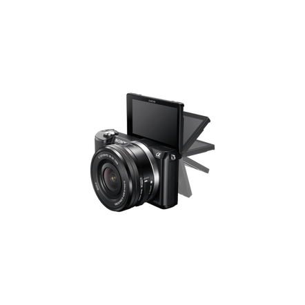 a5000 E-mount Camera Black with APS-C Sensor and 16-50 mm Zoom Lens