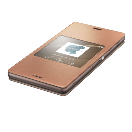Style Cover Window for Xperia Z3 - SCR24 (Copper)