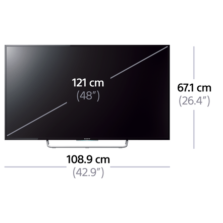 "48"" W700C LED TV with Full HD Display"