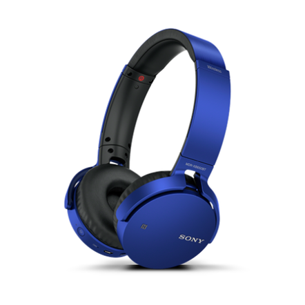 XB650BT EXTRA BASS Bluetooth Headphones (Blue)