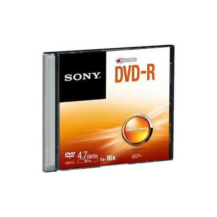 10 Pack DVD-R Recordable Slim Case