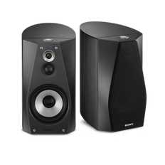 High-Resolution Audio Stereo Bookshelf Speakers (Black)
