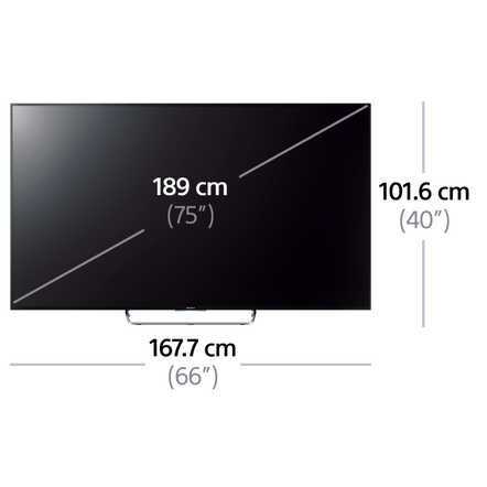"75"" W850C Series Full HD & LED LCD with Android TV"