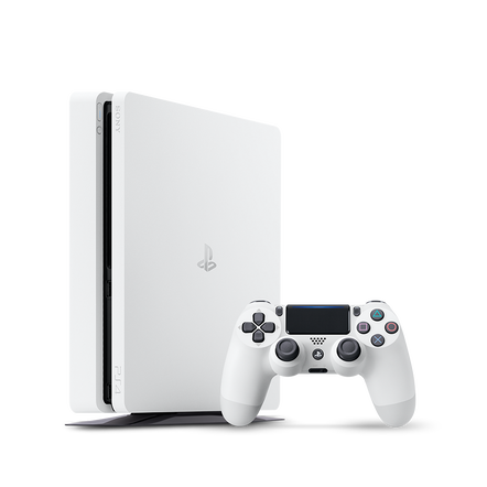 PlayStation4 Slim 500GB Console (White)