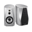 High-Resolution Audio Stereo Bookshelf Speakers (Silver)