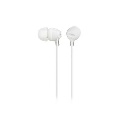 In-Ear Lightweight Headphones with Smartphone Control (White)