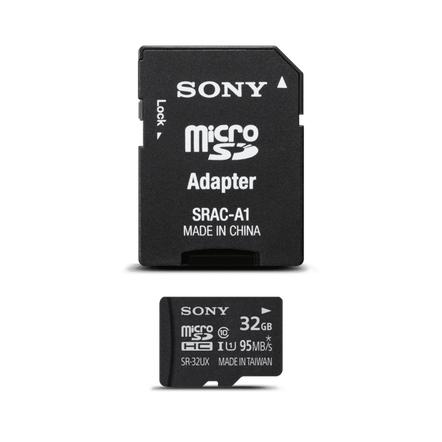 SR32UXA - 32 GB Micro SD Memory Card & Adapter