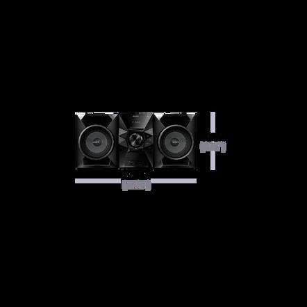 Mini Hi-Fi System with Bluetooth