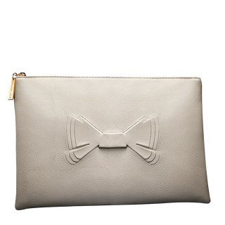 MUGLER Signature white pouch
