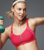 TRIACTION ZIP LITE Sports bra with front closure
