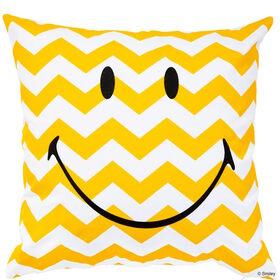 SMILEY Kissen Smiley g/w Wellen 40x40cm