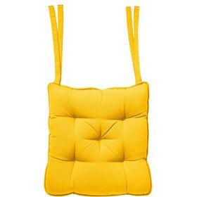 SOLID Stuhlkissen 35x37cm gelb