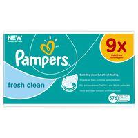 Pampers Feuchttücher Fresh Clean 9 Packungen, 576 Feuchttücher