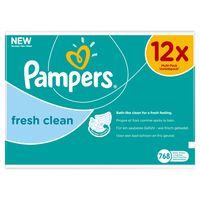 Pampers Fresh Clean Feuchttücher 12Packungen 768Feuchttücher