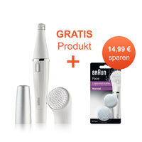 Braun Face 810 Gesichtsepilierer mit Reinigungsbürste + gratis Braun Face 80