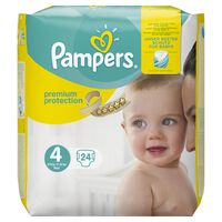 Pampers Premium Protection Größe 4 (Maxi) 8–16 kg Tragepack, 24 Windeln