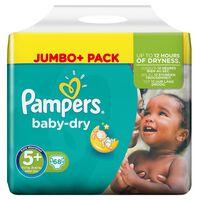 Pampers Baby-Dry Größe 5+ (Junior+) 13–27kg, 68Windeln
