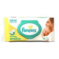 Pampers Feuchttücher New Baby Sensitive Einzelpackung, 50 Feuchttücher