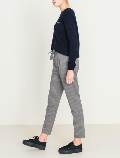 Pantalon noué taille femme
