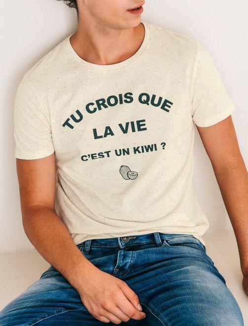 T-shirt Message kiwi homme