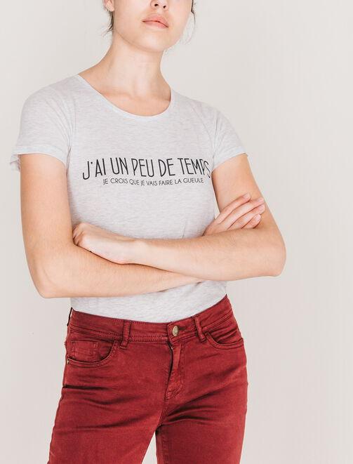"""T-shirt """"j'ai un peu de temps..."""" femme"""