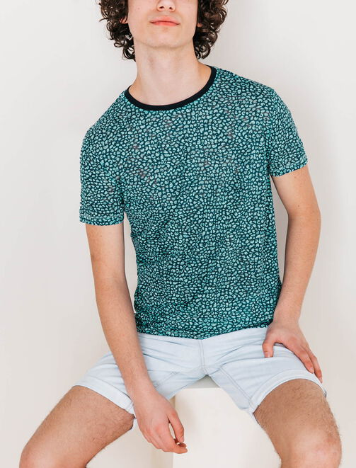 Tee shirt micro camouflage homme