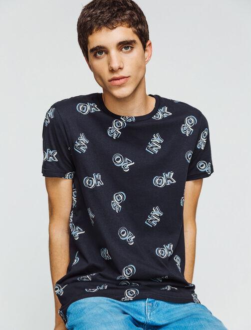 T-shirt print NY homme