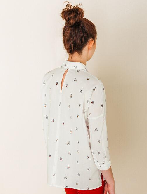 Chemise ample imprimée femme