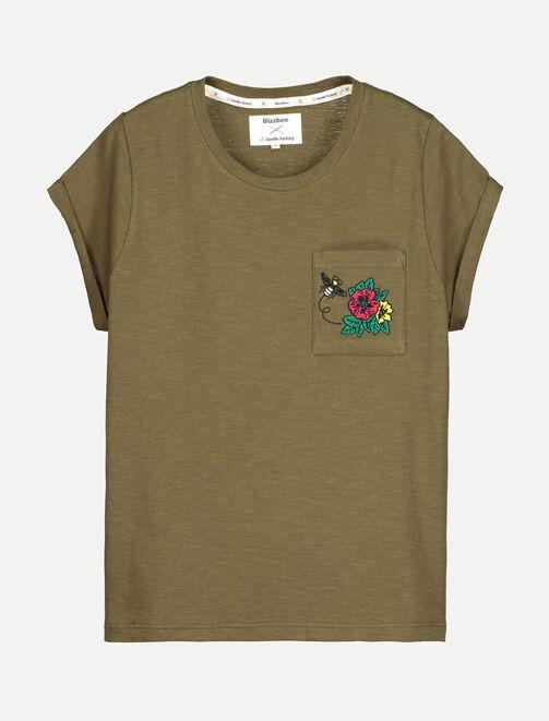 T-shirt broderie roses X La Gentle Factory femme
