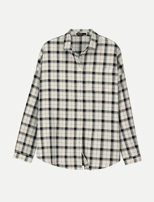 Chemise à carreaux détail lurex femme
