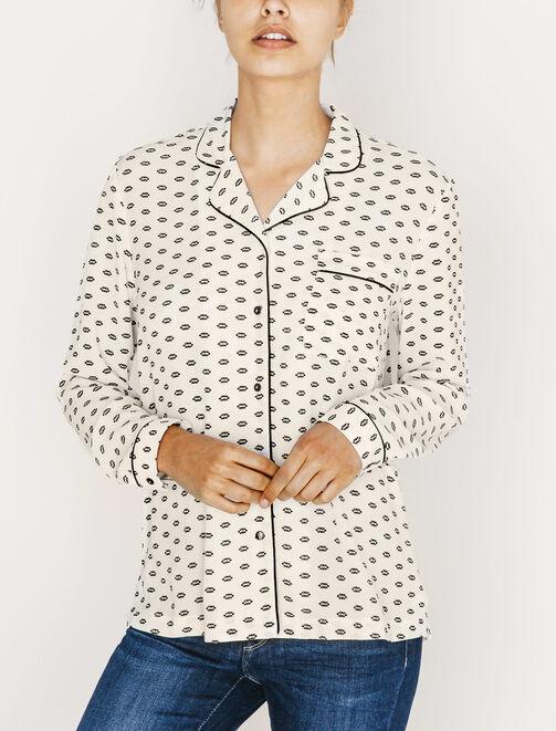 Chemise pyjama imprimée  femme