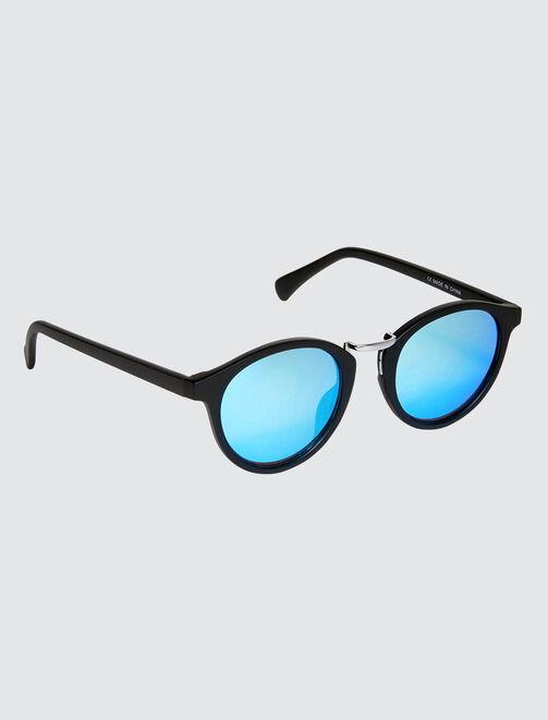 Lunettes de soleil verres bleus homme