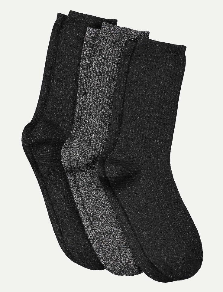 Lot de 3 paires de chaussettes lurex